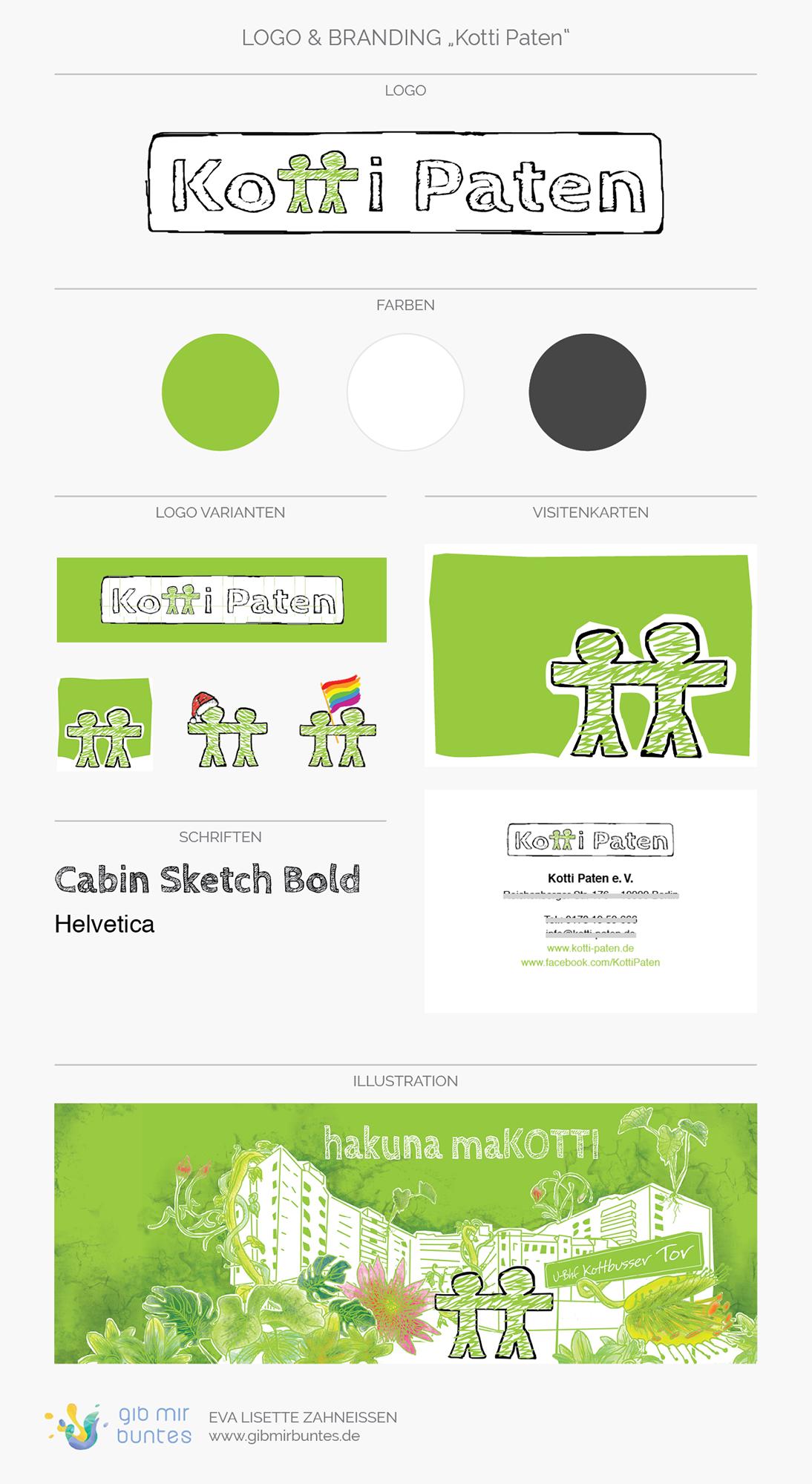 Logo, Logo-Varianten, Farben, Schriften und Illustration
